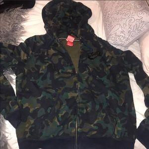 Camo Nike Zip Up Hoodie